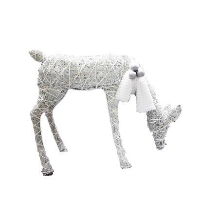 Celebrations Feeding Deer LED Yard Art Cool White Wood/Fabric 42 in. ()