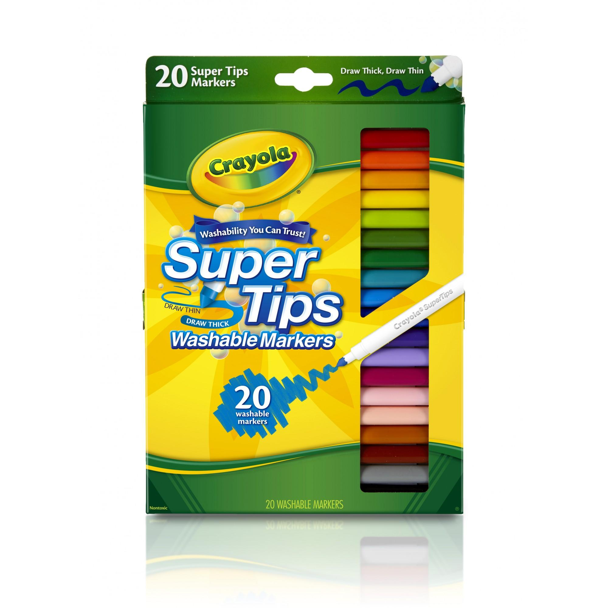 Crayola Fine Line Super Tips Washable Markers 10 1 X 7 Inches 20 Count Walmart Com