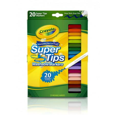 Crayola Super Tips Washable Markers, Fine Line, 20