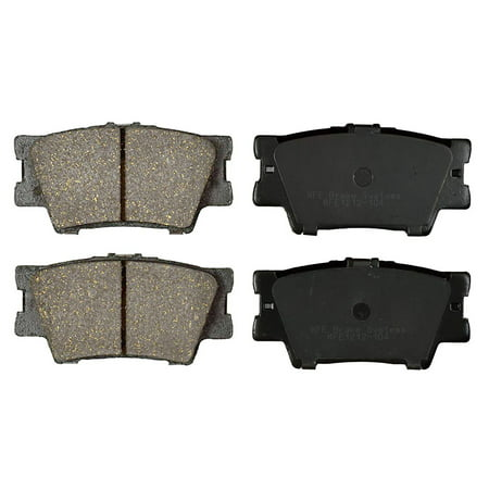 Premium Ceramic Disc Brake Pad REAR Set + Shims KFE QuietAdvanced Fits Toyota KFE1212-104 Change Rear Disc Brakes