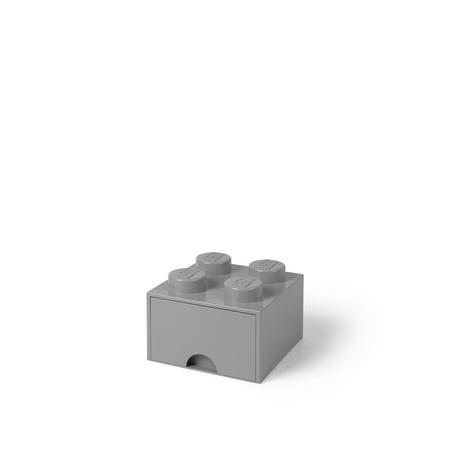LEGO Storage Brick Drawer 4, Med Stone Grey