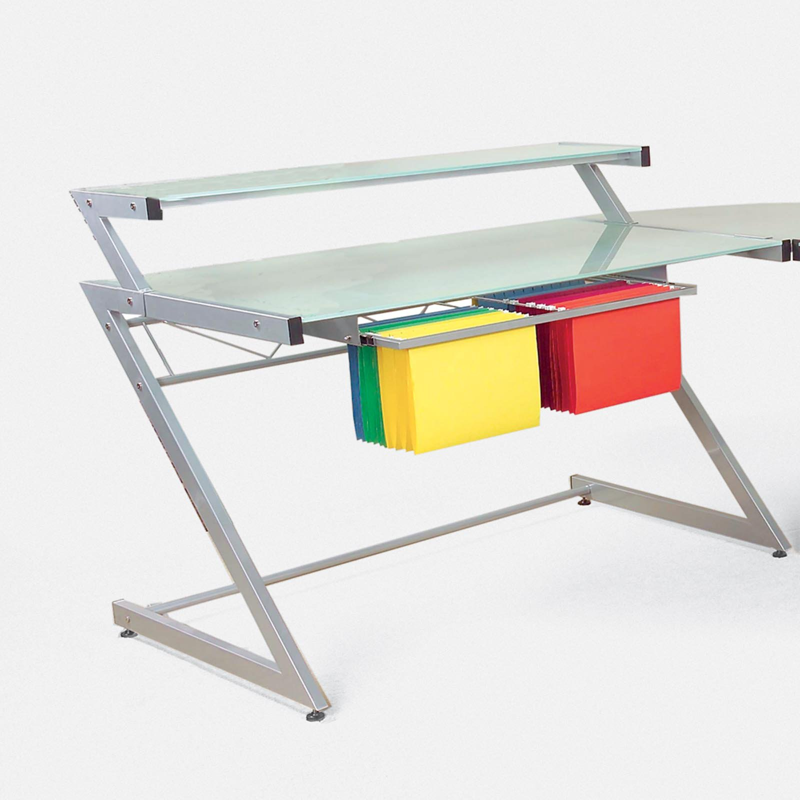 Euro Style Z Small Desk with Shelf by Overstock