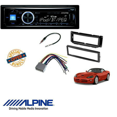 Alpine CDE-143BT Advanced Bluetooth CD Receiver W/ CAR STEREO DASH on
