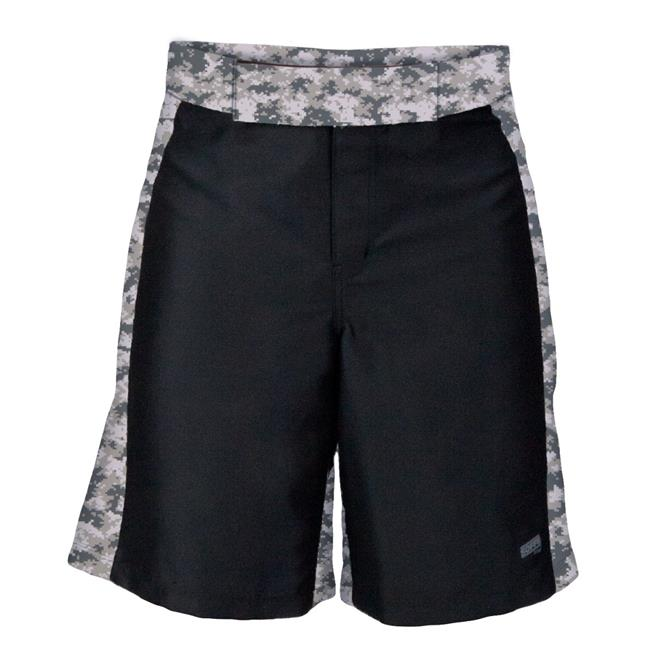 XT46 1011MPR0ZCSML MMA Digital Insert Polyster Shorts for Men, Black & Digital Army - Small - image 1 of 1