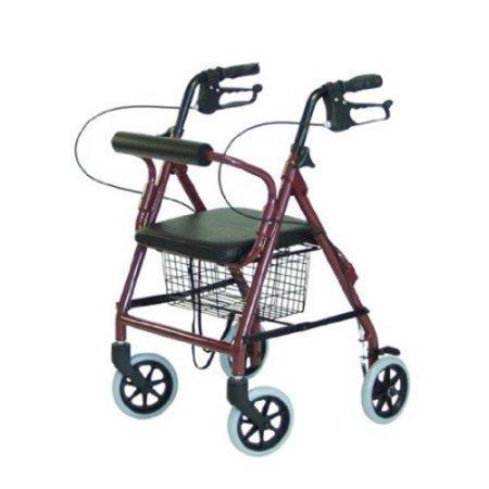 Lumex Walkabout Lite - Burgundy 4-Wheel Rollator ()