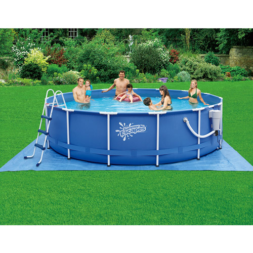 "Summer Escapes 15' x 42"" Metal Frame Swimming Pool"