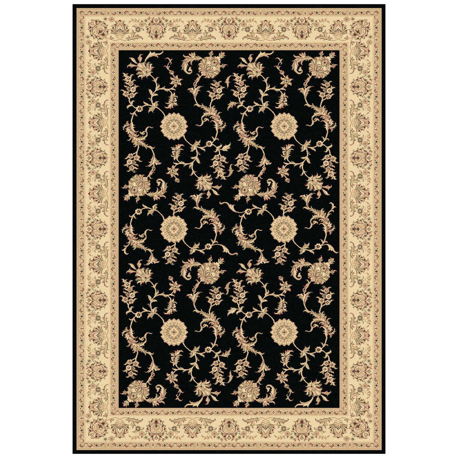 Dynamic Rugs Legacy 58017 Fauna Scroll Persian Rug - Black