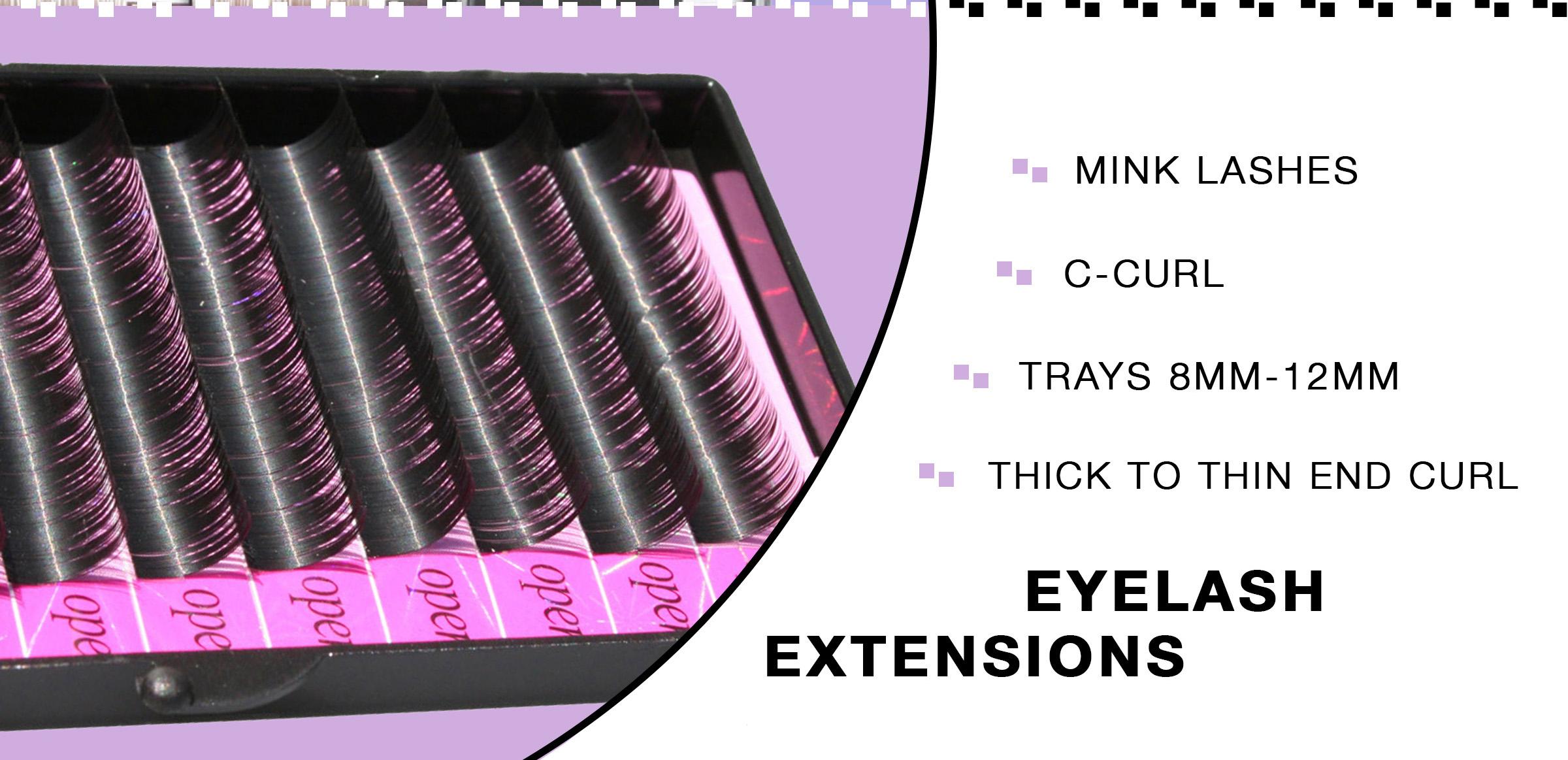 Mink Eyelash Trays Eyelash Extensions 8mm, 10mm, 12mm, 14mm