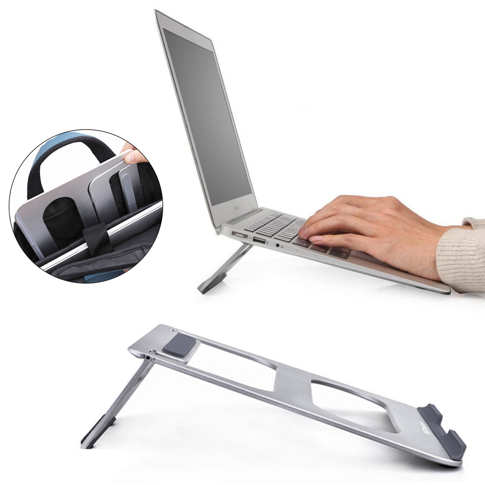 EEEKit 2in1 Office Kit for Laptop, Universal Cooling Desk Dock Stand with Photo Frame Mouse Pad for Macbook and 12 17inc