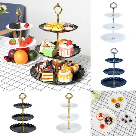 Fruit Tray For Halloween Party (3 Tier Wedding Birthday Party Cake Plate Stand Afternoon Tea Dessert Fruit)