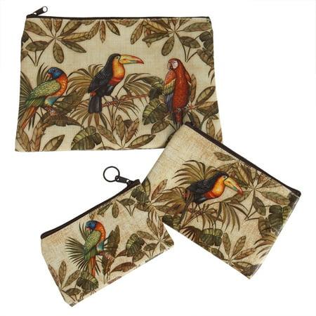 Tropical Chill Bag (3 Tropical Birds Purse Set)