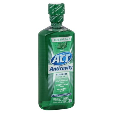 Act Act Anticavity Fluoride Rinse Alcohol Free, Mint 18 oz Act Anticavity Fluoride Rinse Alcohol Free