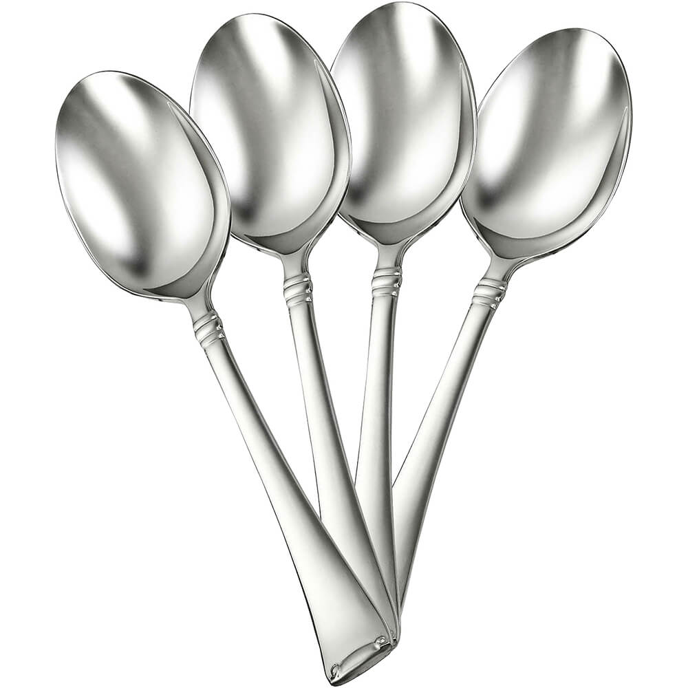 Zwilling JA Henckels 18/10 Steel Angelico Silverware Set, Teaspoon, 4PK, Stainless Steel, 22773-244-4