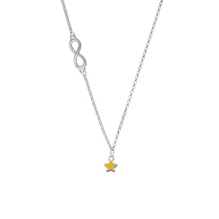 Mini Yellow Star Delicate Infinity Necklace