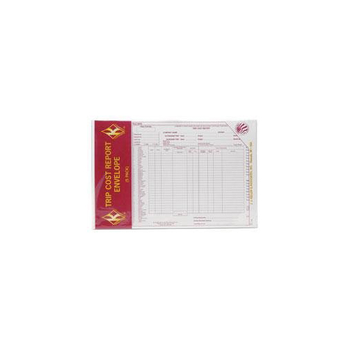 TRIP COST EXPENSE ENVELOPE SELL BY 5/PK Multi-Colored