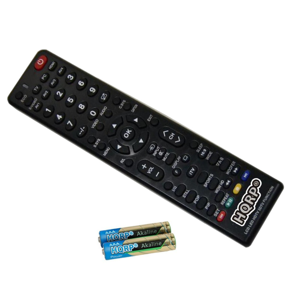 HQRP Remote Control for Sanyo JXPYR, JXMWA, RC-Q28M-OK, DP26746, DP32640, DP24E14, DP26647 LCD LED HD TV Smart 1080p 3D Ultra 4K + HQRP Coaster