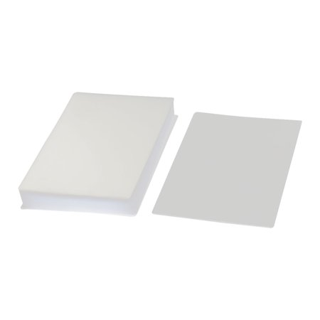 Unique Bargains 100pcs Clear White Plastic 95mmx135mm 3R Photo Paper Cards Laminating Pouch (Plastic Binding Laminating)