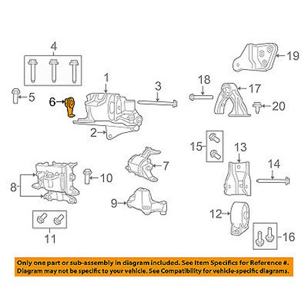 engine transmission diagram jeep chrysler oem compass engine motor transmission mount bolt nut  jeep chrysler oem compass engine motor