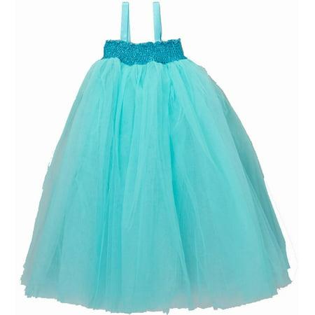 Wenchoice Turquoise Sheer Fairy Long Dress Girl's - Long Fairy Dresses