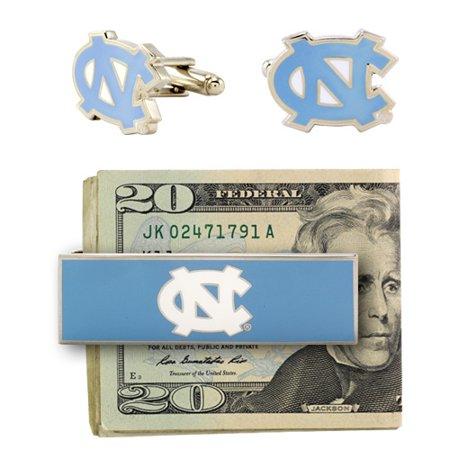 North Carolina Tar Heels Cuff Links and Money Clip - No - North Carolina Tar Heels Cufflinks