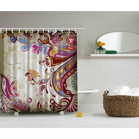Flower bouquet paisley floral damask print bathroom for Bathroom accessories at walmart