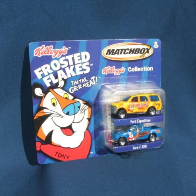 Kellogg's Frosted Flakes Diecast cars 2 car set Matchbox by Mattel by GOYA FOODS INC