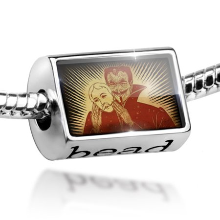 Bead Halloween, Dracula Charm Fits All European Bracelets - Halloween Charms Loom