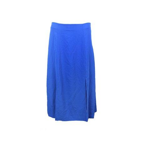 Lauren Ralph Lauren Blue Crepe A-Line Skirt  10
