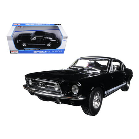 1967 Ford Mustang GTA Fastback Black 1/18 Diecast Model Car by Maisto - Gta Halloween Update Cars