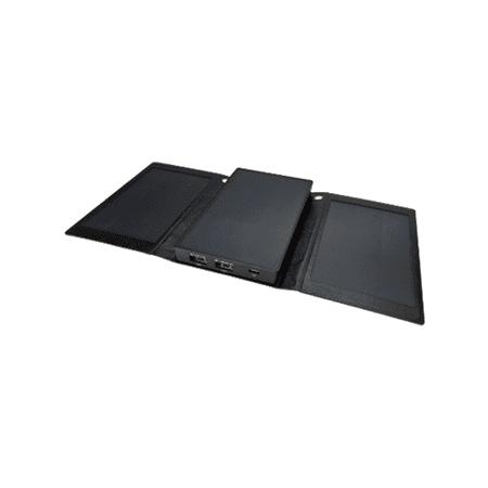 Solpro Helios Smart 5000mAh Tri-Fold Solar Charging Power Bank, Black