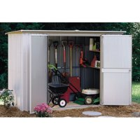 Garden Shed 8 x 3 ft. Pent Roof Eggshell/Taupe