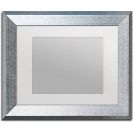 Trademark Fine Art Heavy-Duty 11x14 Silver Picture Frame with 8x10 ...