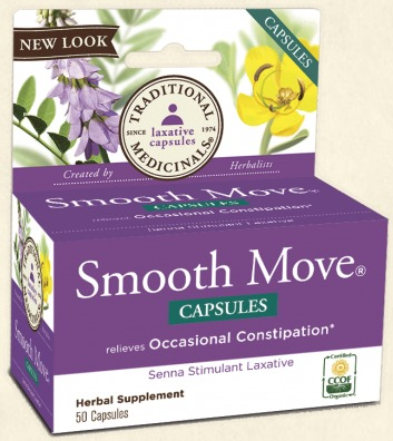 Smooth Move Senna Traditional Medicinals 50 Caps
