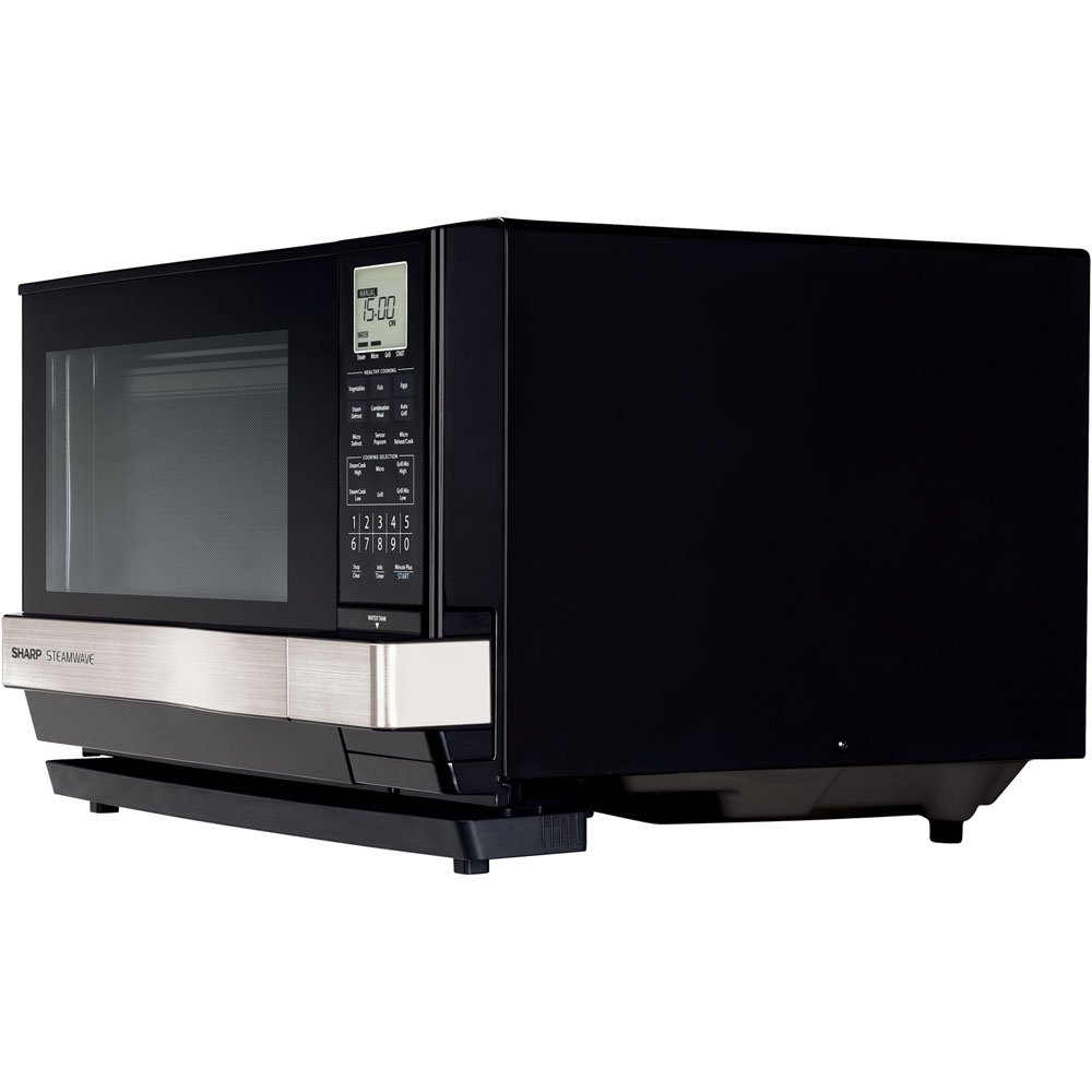 Sharp Steamwave Oven, Black Cabinet With Silver Handle - ...