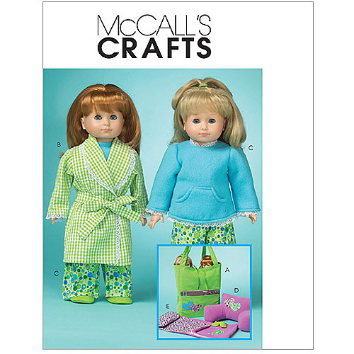 "McCall's Pattern 18"" Doll Clothes and Accessories, 1 Size Only"