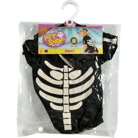 Rubie's Glow-In-The-Dark Skeleton Hoodie Pet Costume-Extra - Speakeasy Party Attire