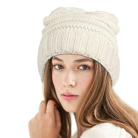 Zodaca Fashion Design Unisex Mens Womens Wavy Warm Winter Beanie Stretchy Knit Hat - Brown - image 4 of 5