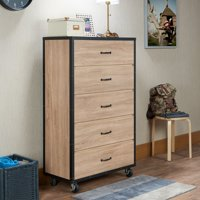 Acme Furniture Bemis Weathered Light Oak Chest with Five Drawers