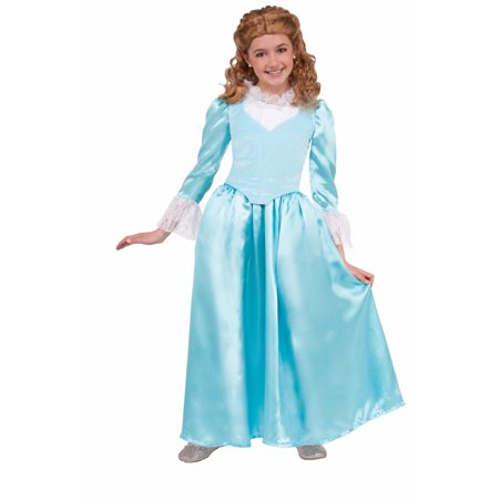 Halloween Colonial Girl Blue Costume
