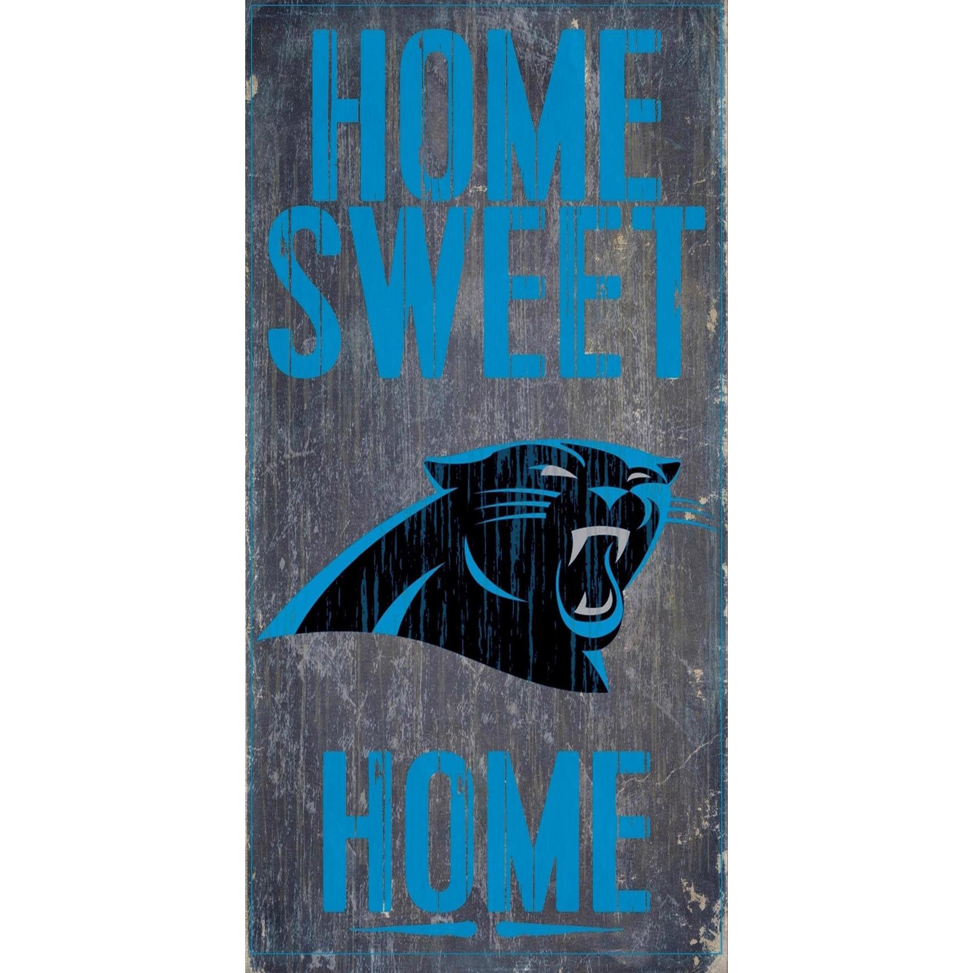 Carolina Panthers 6'' x 12'' Home Sweet Home Sign - No Size