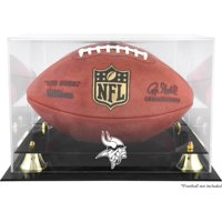 Minnesota Vikings Golden Classic Football Display Case with Mirror Back