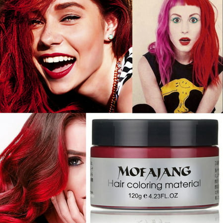 Harajuku Style Styling Products Hair Color Wax Dye One-time Molding Paste Seven Colors Hair Dye Wax Maquillaje Make Up](Moulding Wax Halloween)