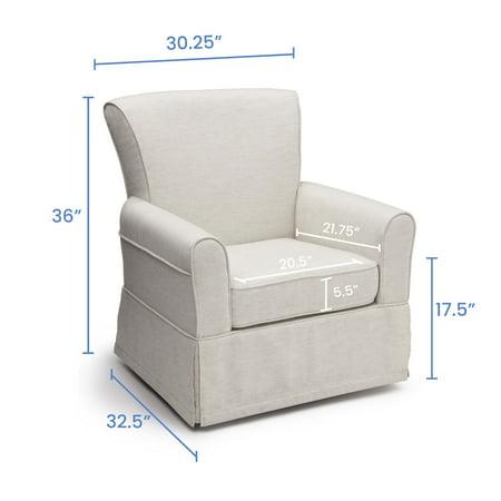 Delta Children Epic Nursery Glider Swivel Rocker Chair, Sand