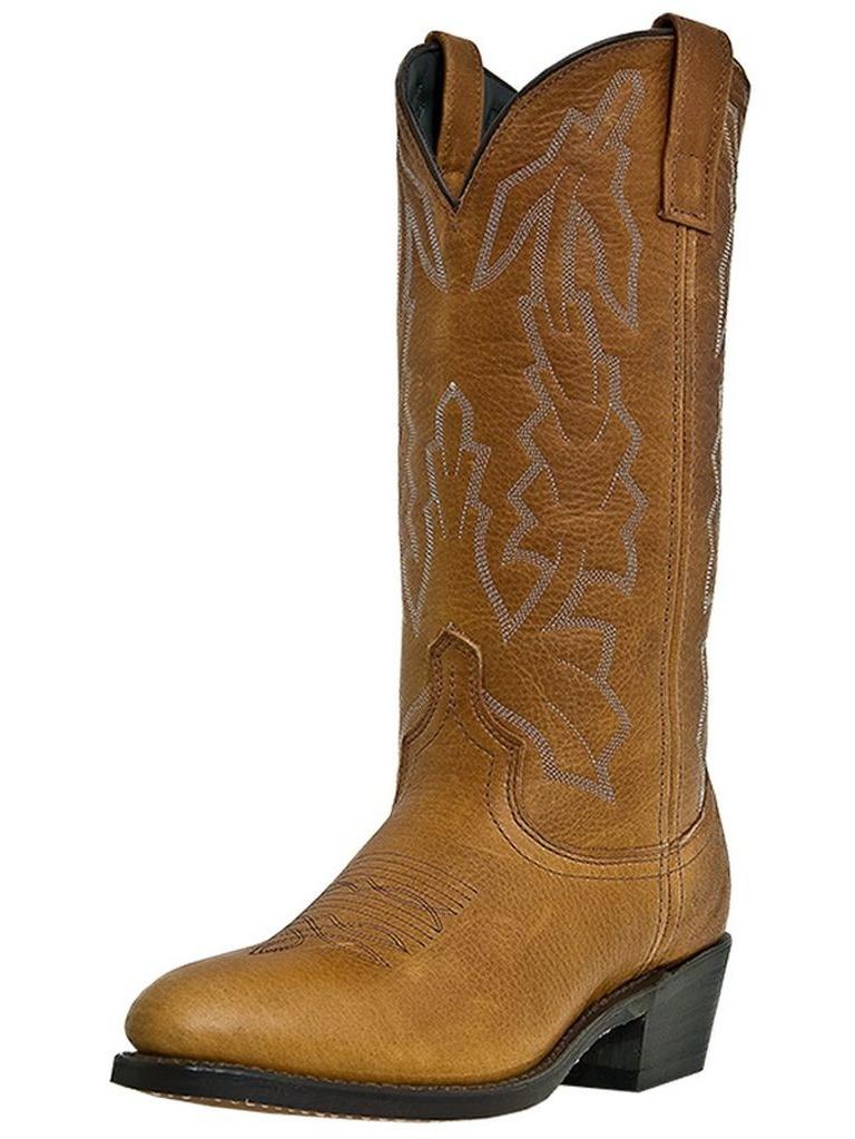 Laredo Western Boots Mens Jacksonville Cowboy Walnut Deertan 68372 by Laredo