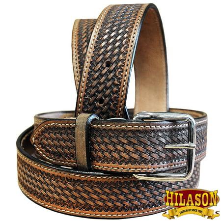 "30""-60"" Hilason Handmade Concealed Carry Leather Stitch Gun Holster Belt"