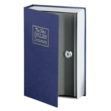 Secret Safe - Book Safe Hidden Secret Compartment Metal Storage Lock Box with Key