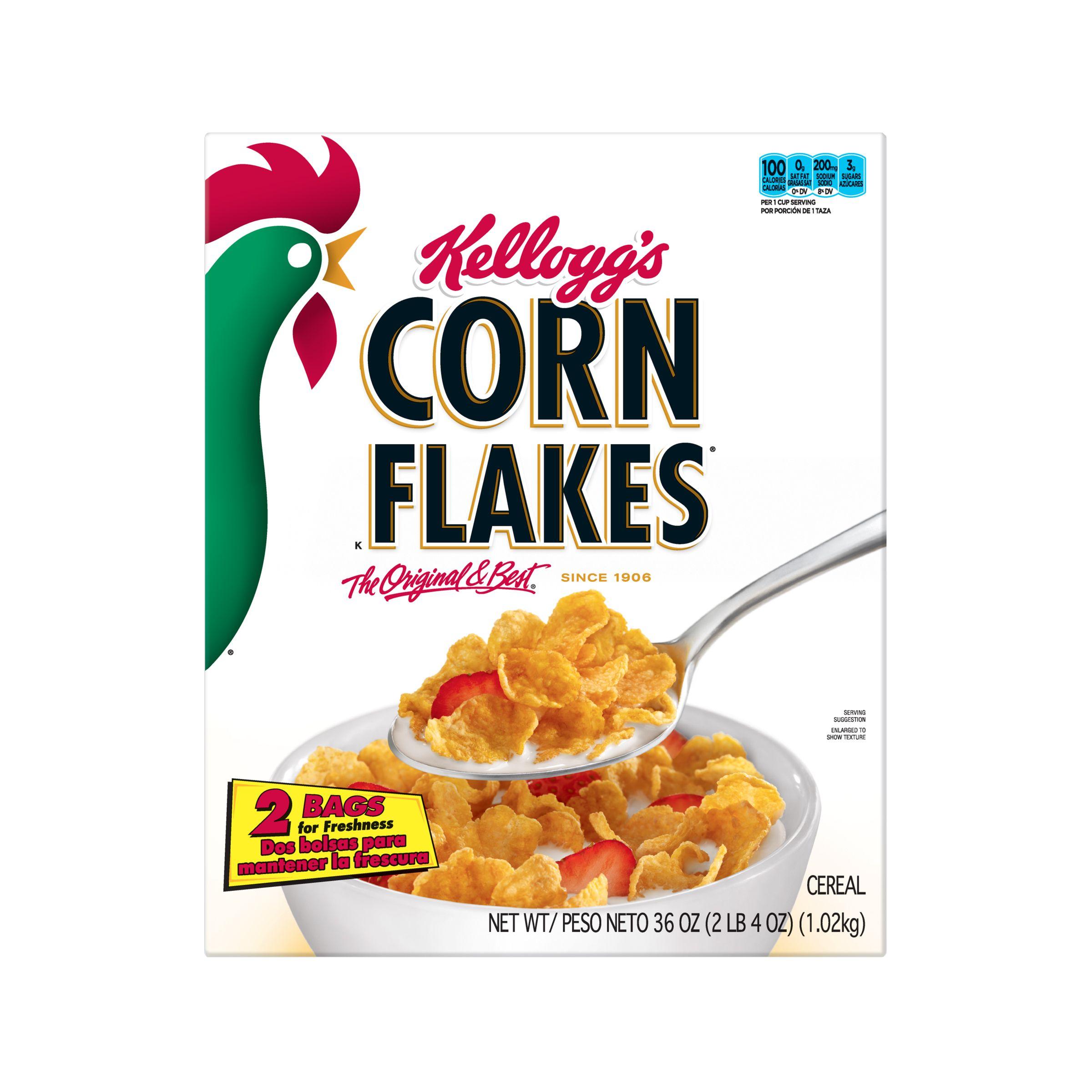 Kelloggs Corn Flakes Breakfast Cereal Original 36 Oz