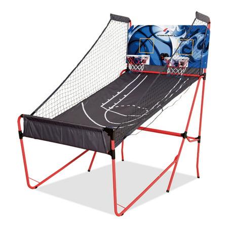 Sportcraft Quick Set up 2-Player Basketball Arcade 10 Mins Setup/No Tools Required 2-Player Basketball Arcade Game w/ 8 Game Options