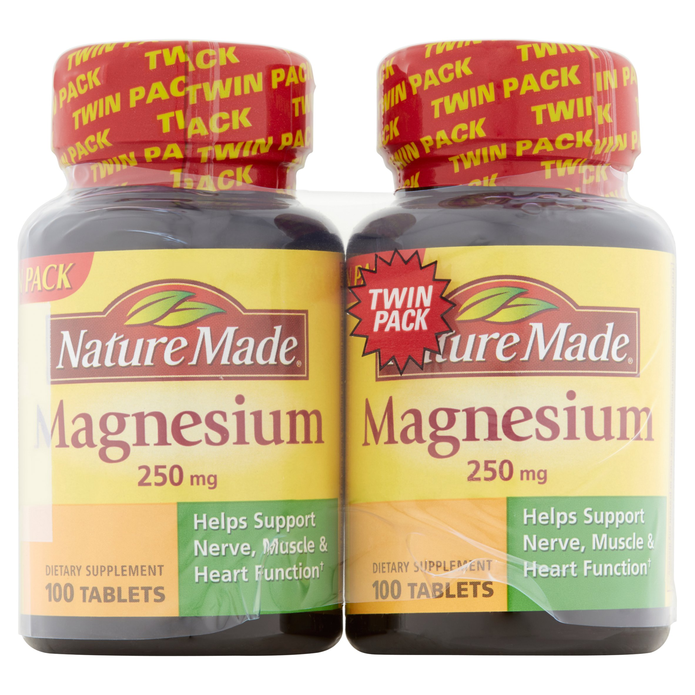 Nature Made Magnesium Tablets, 250 Mg, 200 Ct, 2 Pk