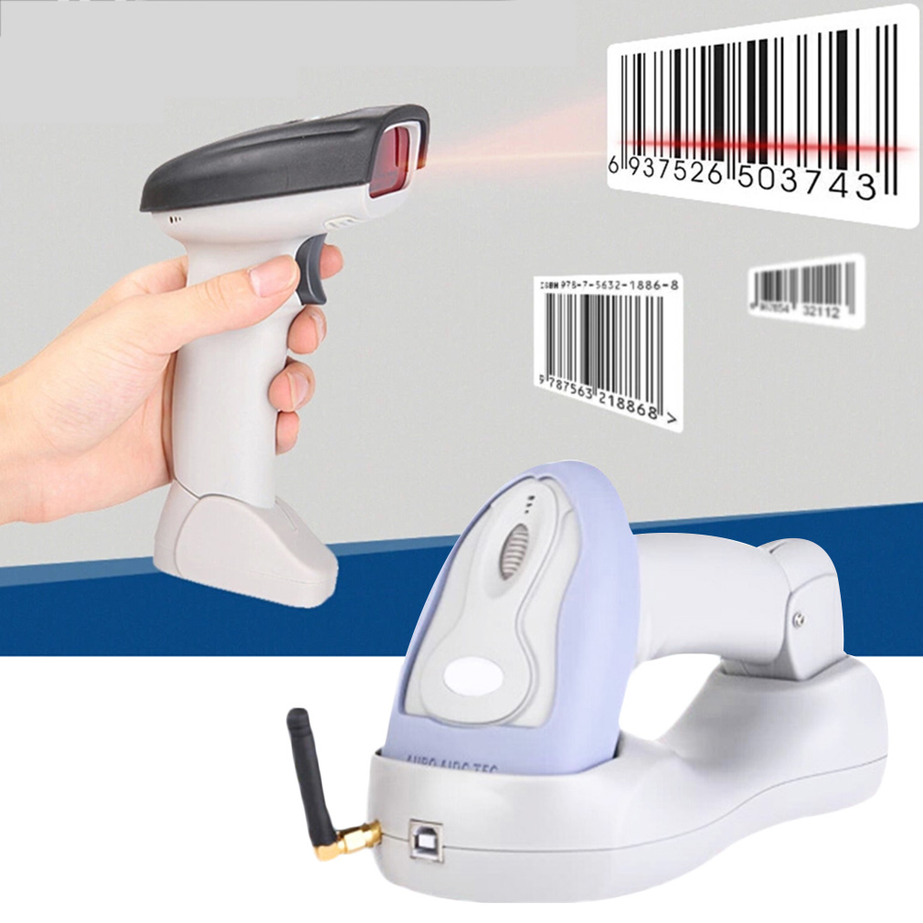 High Quality Portable Laser USB Bluetooth Wireless Barcode Scanner with Cable for